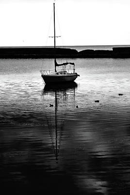 Photograph - Sailboat With Ducks, Lake Ontario. by Bill Jonscher
