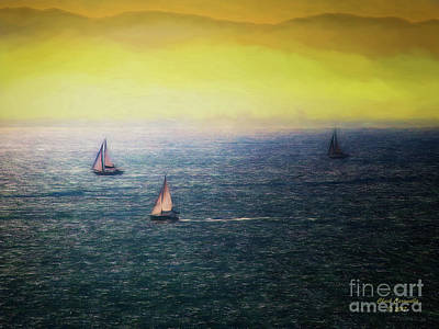 Photograph - Sailboats  ... by Chuck Caramella