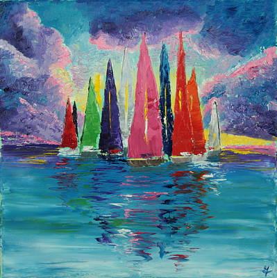 Sailboats 6 Original by Garett Fraser