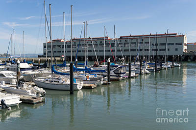 Photograph - Sailboats At Fort Mason Gashouse Cove East Harbor San Francisco California Dsc3134 by Wingsdomain Art and Photography