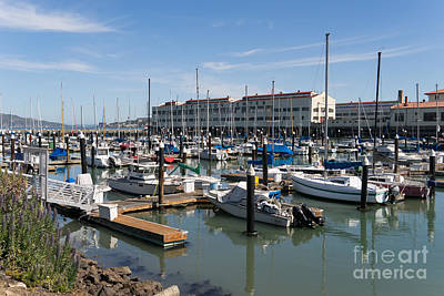 Photograph - Sailboats At Fort Mason Gashouse Cove East Harbor San Francisco California Dsc3137 by Wingsdomain Art and Photography