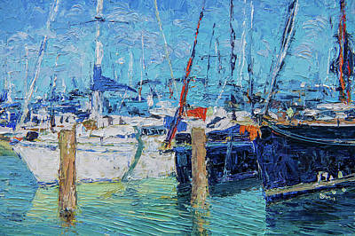Painting - Sailboats At Lake Balaton by Judith Barath