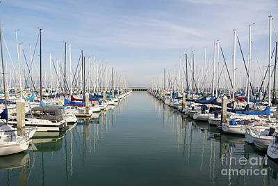 Photograph - Sailboats At South Beach Harbor San Francisco Dsc5767 by San Francisco Art and Photography