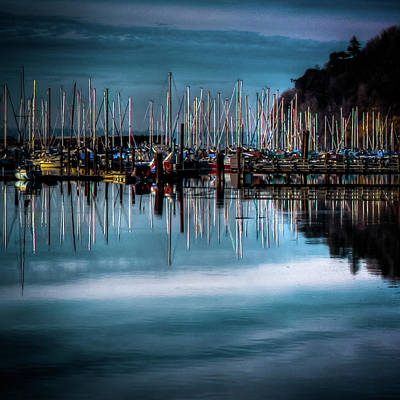 Photograph - Sailboats At Sunset by David Patterson