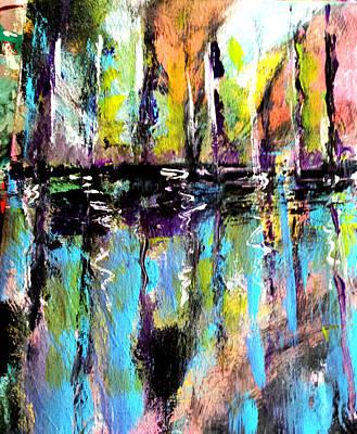 Painting - Sailboats At Sunset by Nikki Dalton
