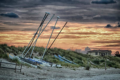 Photograph - Sailboats At Sunset by Travis Rogers