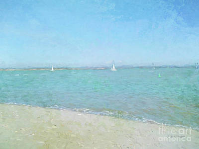 Digital Art - Sailboats At West Wittering by Jayne Wilson
