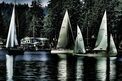 Photograph - Sailboats by David Patterson