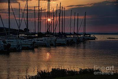 Photograph - Sailboats Docked by Diana Mary Sharpton