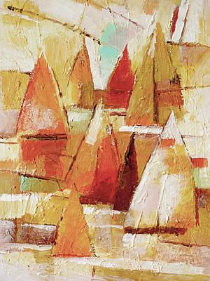 Sailboats Impression Art Print