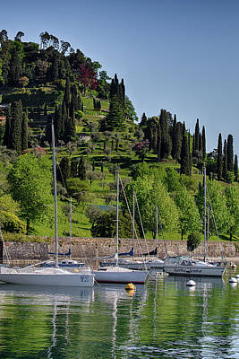 Jolly Old Saint Nick - Sailboats in Bellagio by Sue Schwer
