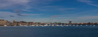 Photograph - Sailboats In Boston Harbor Panorama by Brian MacLean