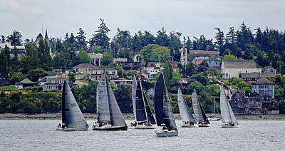 Photograph - Sailboats In Coupeville by Rick Lawler