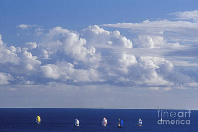 Photograph - Sailboats In Distance by Mary Van de Ven - Printscapes