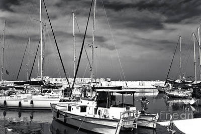 Photograph - Sailboats In Jaffa Port by John Rizzuto