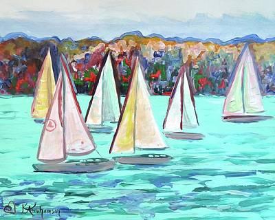 Sailboats In Spain I Art Print