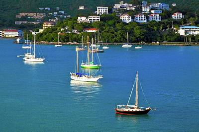 Photograph - Sailboats In The Caribbean by Kirsten Giving