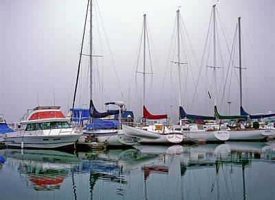 Photograph - Sailboats In The Fog by Robert Potts