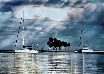 Sailboats Art Print by Jim Hill