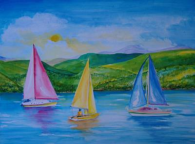 Painting - Sailboats by Laura Rispoli