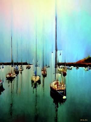 Digital Art - Sailboats by Lilia D