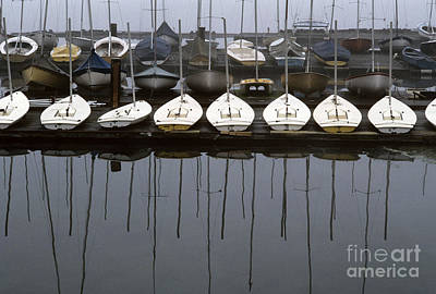 Photograph - Sailboats On Dock Sunrise by Jim Corwin
