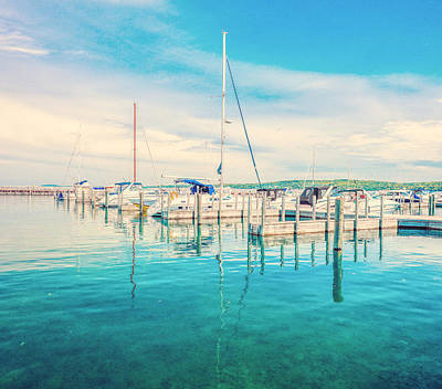 Photograph - Sailboats On Grand Traverse Bay by Dan Sproul
