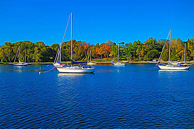 Painting - Sailboats On Lake Champlain by Dan Sproul