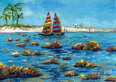 Painting - Sailboats On Siesta Key by Lou Ann Bagnall