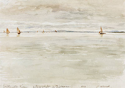 Painting - Sailboats On Southampton River by John Linnell