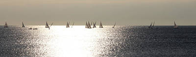 Photograph - Sailboats On The Horizon by Katie Wing Vigil