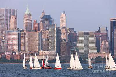 Photograph - Sailboats On The Hudson II by Clarence Holmes