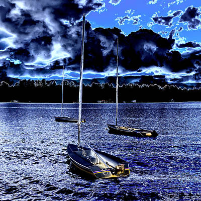 Photograph - Sailboats On White Lake by David Patterson