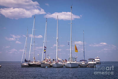 Photograph - Sailboats Reunion At Isles Of Shoals by Claudia M Photography