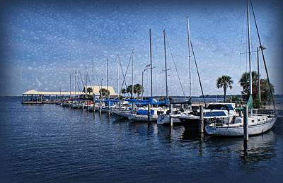 Sailboats Print by Sandy Keeton