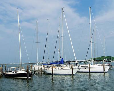Photograph - Sailboats by SG Atkinson