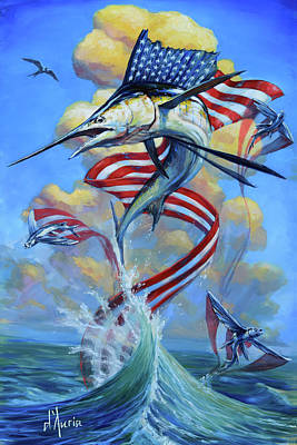 Sailfish Americana II Art Print
