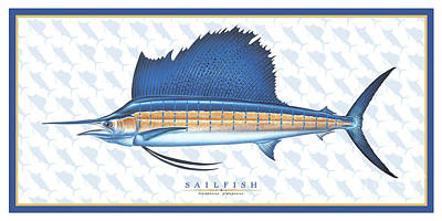 Painting - Sailfish Id by Jon Q Wright