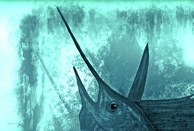 Sailfish Painting - Sailfish In The Mist by Ken Figurski