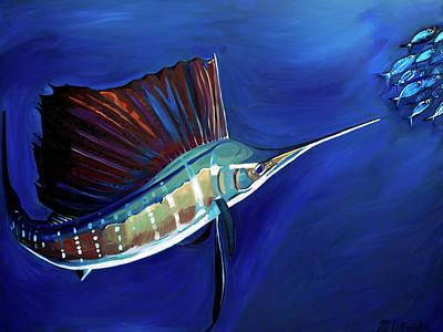 Painting - Sailfish by Monika Urbanska