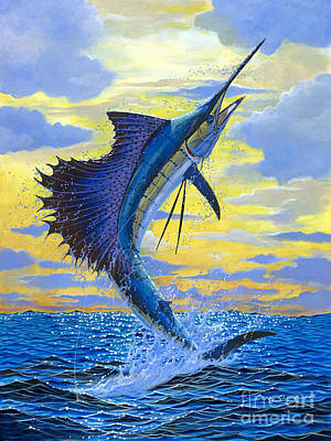 Water Splashing Painting - Sailfish Point by Carey Chen