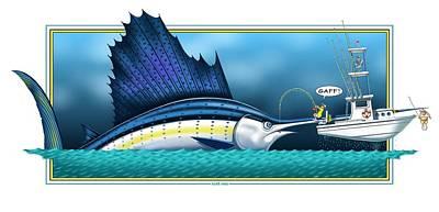 Digital Art - Sailfish by Scott Ross