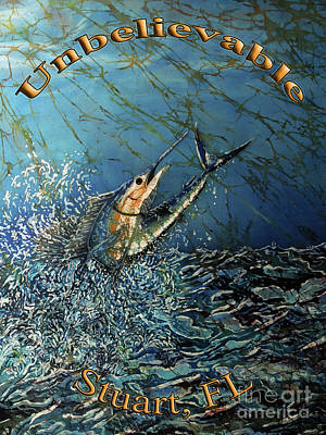 Painting - Sailfish - Unbelievable  by Sue Duda