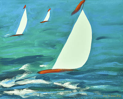 Painting - Sailing 2 by Gina De Gorna