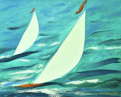 Painting - Sailing 3 by Gina De Gorna