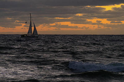 Photograph - Sailing Against The Wind Delray Beach by Lawrence S Richardson Jr