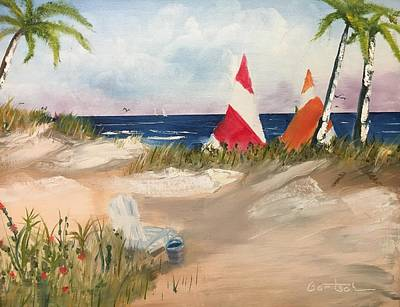 Painting - Sailing Along by David Bartsch