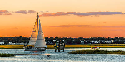 Photograph - Sailing Along - Sullivan's Island Sc by Donnie Whitaker