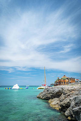 Photograph - Coastline Sailing In Montego Bay by Debbie Ann Powell