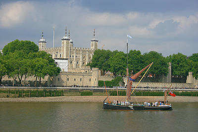 Sailing Along Tower Of London Original by Sydney Alvares